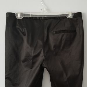 Theory Pants - Theory Black Satin Cropped Mid Rise Pants Size 6